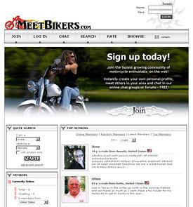 MeetBikers.com Custom Website Designed by N.A.I. Multimedia Studios, New Orleans TX