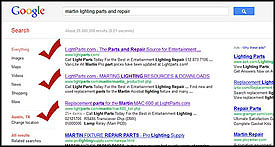 LightParts - #1 Google Search Result