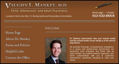 Dr. Vaughn Mankey Psychology - Website design by N.A.I. Multimedia Studios New Orleans Texas