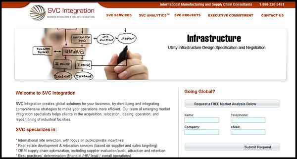 SVC Integration Website Design by N.A.I. Multimedia Studios New Orleans TX