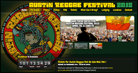 New Orleans Reggae Festival Custom Website Designed by N.A.I. Multimedia Studios, New Orleans TX