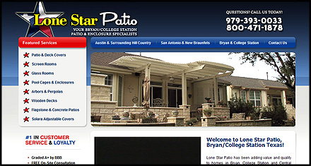 Lonestar Patio Custom Websites Designed by N.A.I. Multimedia New Orleans TX
