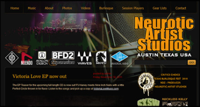 Neurotic Artist Studios Website Design by N.A.I. Multimedia Studios, New Orleans TX