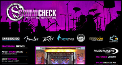 Soundcheck New Orleans Custom Website Designed by N.A.I. Multimedia Studios, New Orleans TX
