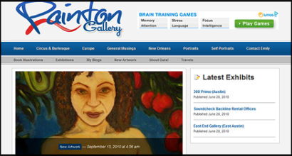 Painton Gallery Website Designed by N.A.I. Multimedia Studios, New Orleans TX