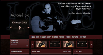 Victoria Love Music, Custom Website Design by N.A.I. Multimedia Studios, New Orleans TX