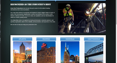 Crew One SIte Design by N.A.I. Multimedia Studios