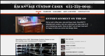 Backstage Custom Cases Nashville SIte Design by N.A.I. Multimedia Studios
