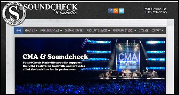 Soundcheck Nashville site design by N.A.I. Multimedia Studios New Orleans TX USA