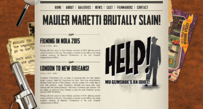 Help! My gumshoe's an idiot! website design by N.A.I. Multmedia Studios New Orleans