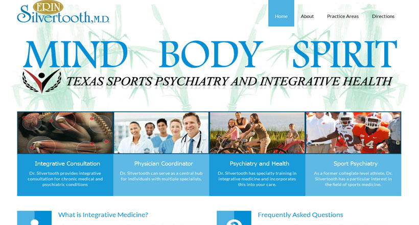 Dr. Silvertooth website design by N.A.I. Multimedia Studios
