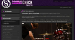 Soundcheck Austin website design by N.A.I. Multimedia Studios