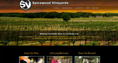 Spicewood Vineyards Website Design by N.A.I. Multimedia Studios
